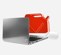 kanister z laptopem